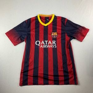 pretty nice d389c 5d9b3 FC Barcelona Messi #10 Soccer Jersey Red Blue Gold